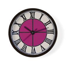 Plum Colored Wall Clock