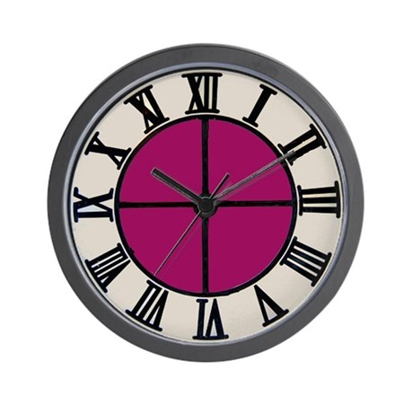 Plum Colored Wall Clock