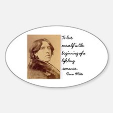OSCAR WILDE LOVE QUOTE Oval Decal