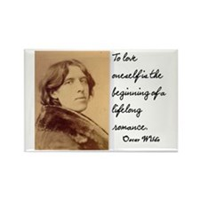 OSCAR WILDE LOVE QUOTE Rectangle Magnet
