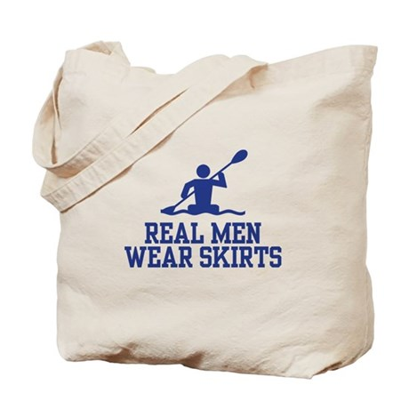 Real Men Wear Skirts Tote Bag