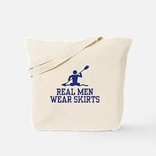 Real Men Wear Skirts Tote Bag