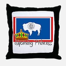 Wyoming Princess Throw Pillow