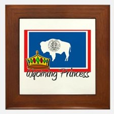 Wyoming Princess Framed Tile