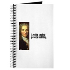 "Voltaire ""Witty Saying"" Journal"