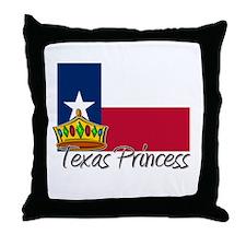 Texas Princess Throw Pillow
