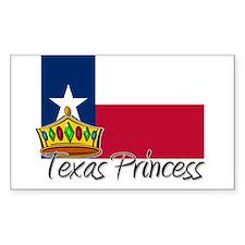 Texas Princess Rectangle Decal