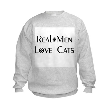 Real Men Love Cats Kids Sweatshirt