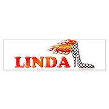 Heels LINDA Bumper Car Sticker