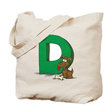 D Is For Dog Tote Bag