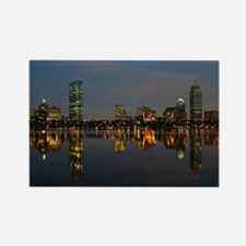 Boston Back Bay at Night Rectangle Magnet