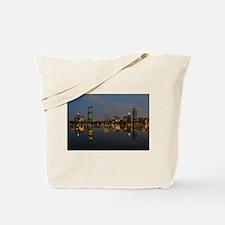 Boston Back Bay at Night Tote Bag