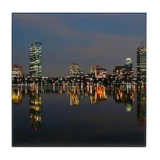 Boston Back Bay at Night Tile Coaster