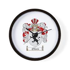Owen Family Crest Wall Clock