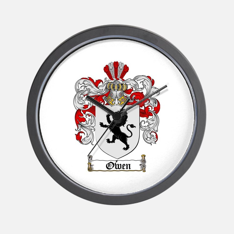 Owen Family Crest Wall Clock