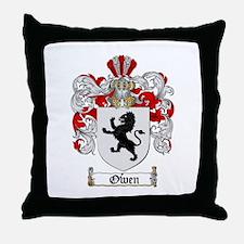 Owen Family Crest Throw Pillow