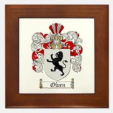 Owen Family Crest Framed Tile