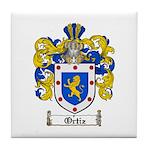 Ortiz Family Crest Tile Coaster