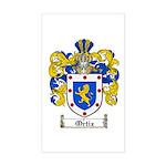 Ortiz Family Crest Rectangle Sticker