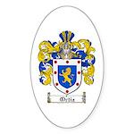 Ortiz Family Crest Oval Sticker