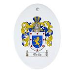 Ortiz Family Crest Oval Ornament