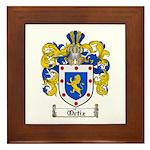 Ortiz Family Crest Framed Tile