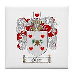 Olson Family Crest Tile Coaster