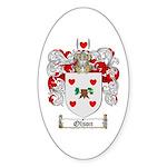 Olson Family Crest Oval Sticker