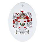 Olson Family Crest Oval Ornament