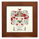 Olson Family Crest Framed Tile