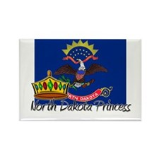 North Dakota Princess Rectangle Magnet