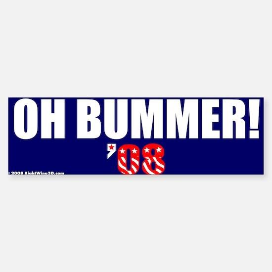 Oh Bummer Obummer Bumper Car Car Sticker