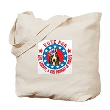 Vote for Basset Tote Bag