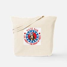 Vote for Basset Tote Bag