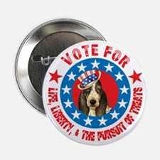 "Vote for Basset 2.25"" Button"