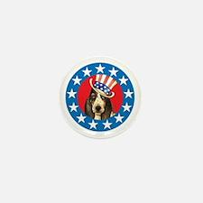 Vote for Basset Mini Button