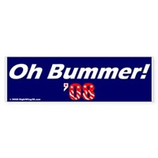 Oh Bummer Obummer Obama Bumper Car Sticker