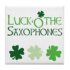 Luck 'O the Saxophones Tile Coaster