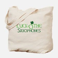 Luck 'O the Saxophones Tote Bag