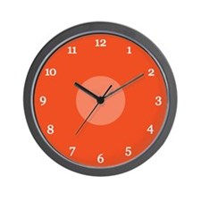Orange Wall Clock (03W)