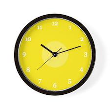Yellow Wall Clock (06W)