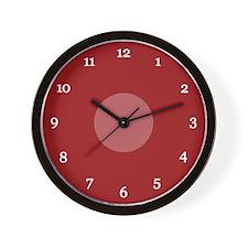 Red Wall Clock (01W)