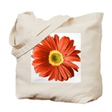 Pop Art Red Gerbera Daisy Tote Bag
