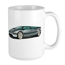 DeLorean White Background Mugs