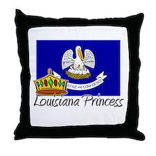 Louisiana Princess Throw Pillow
