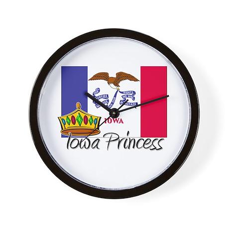 Iowa Princess Wall Clock