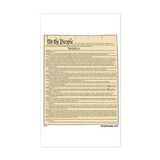 US Constitution Rectangle Decal