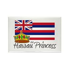 Hawaii Princess Rectangle Magnet