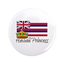 """Hawaii Princess 3.5"""" Button"""
