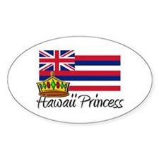 Hawaii Princess Oval Decal